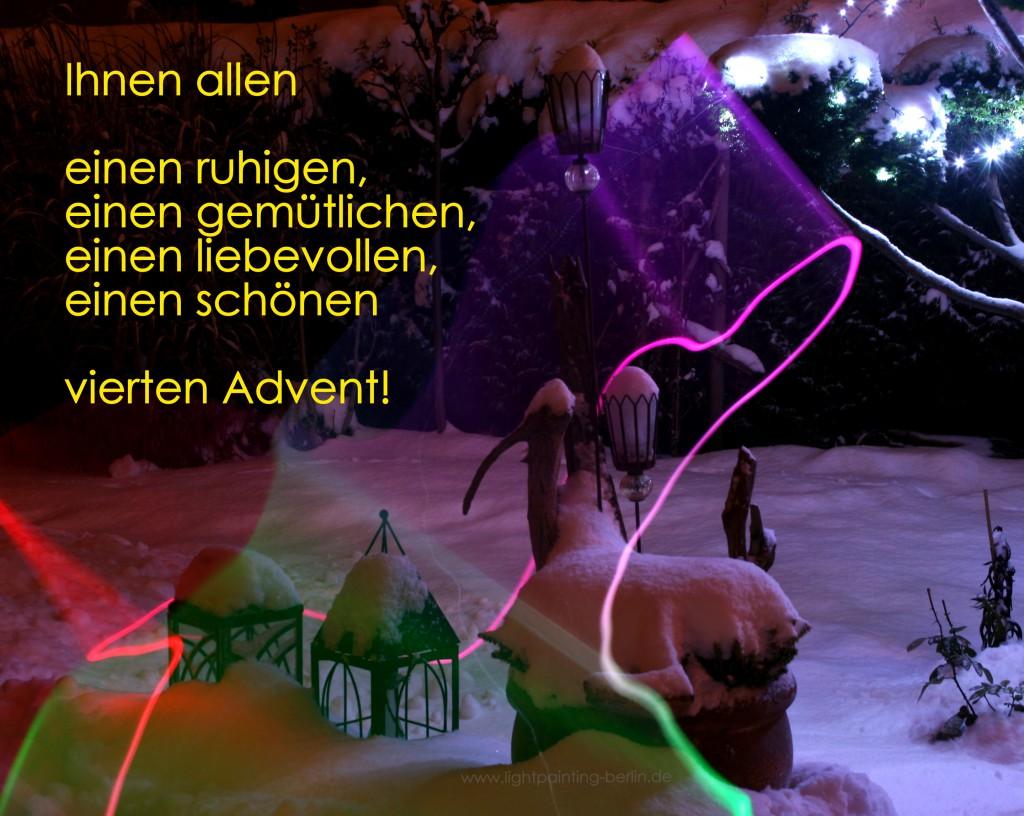 Ihnen allen einen ruhigen, gemütlichen, liebevollen und schönen vierten Advent!